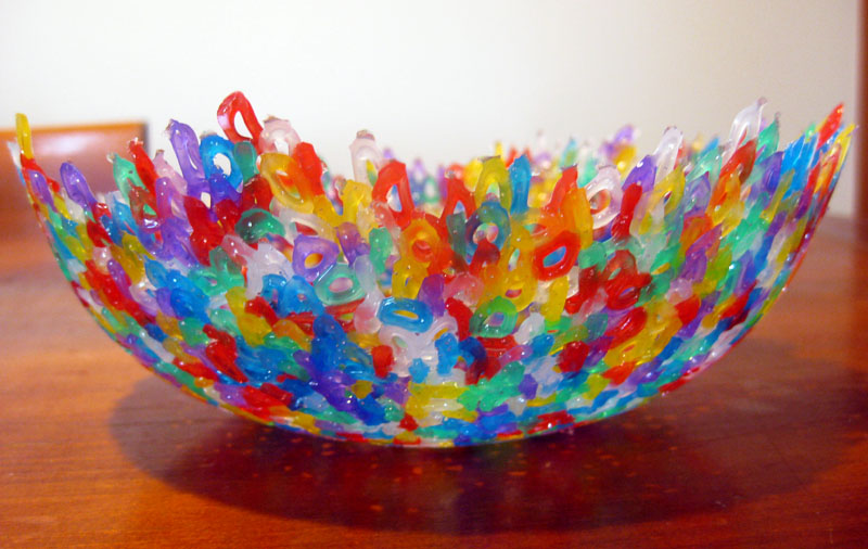 Making pretty things melted bead bowls happy whimsical for Bead craft ideas for kids