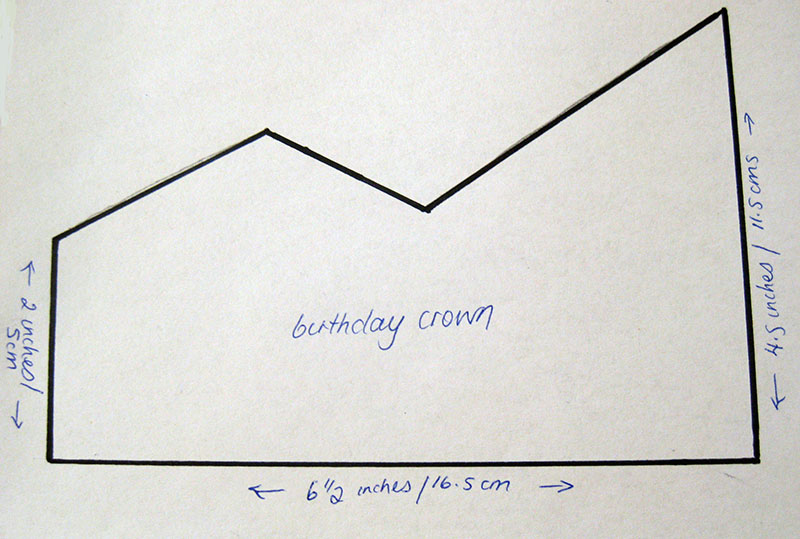 A birthday crown happy whimsical hearts for Happy birthday crown template
