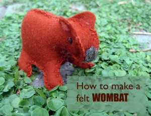 How to make a felt womat {tutorial and pattern}