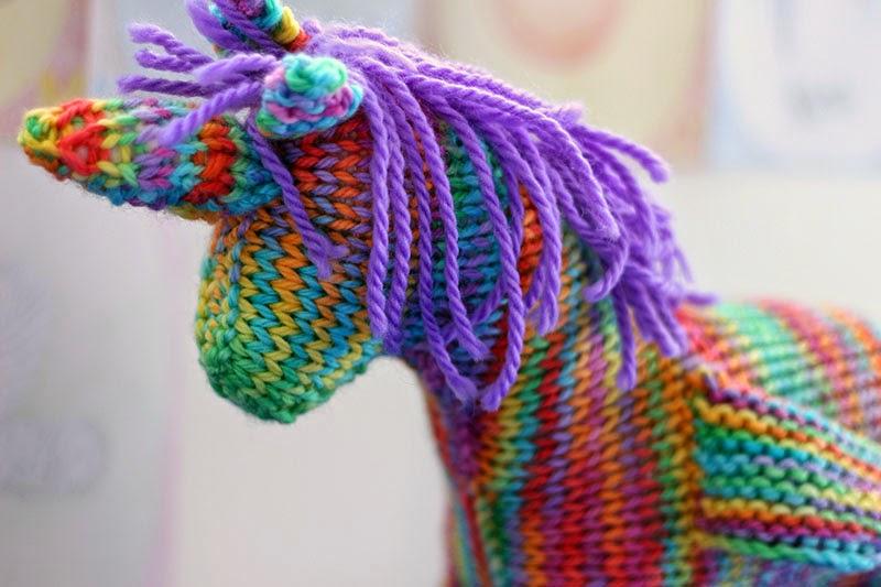 Unicorn Knitting Books : A magical unicorn happy whimsical hearts