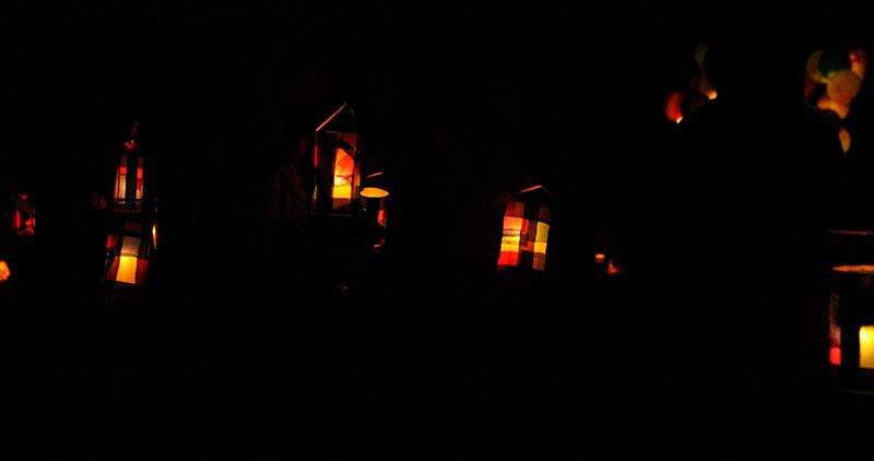 A lantern walk