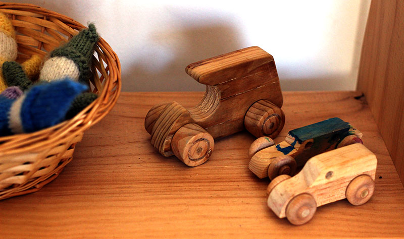little wooden cars