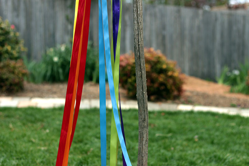 maypole ribbon and branch