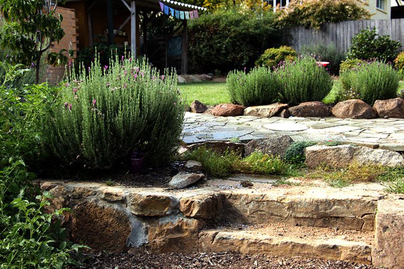 summer garden steps