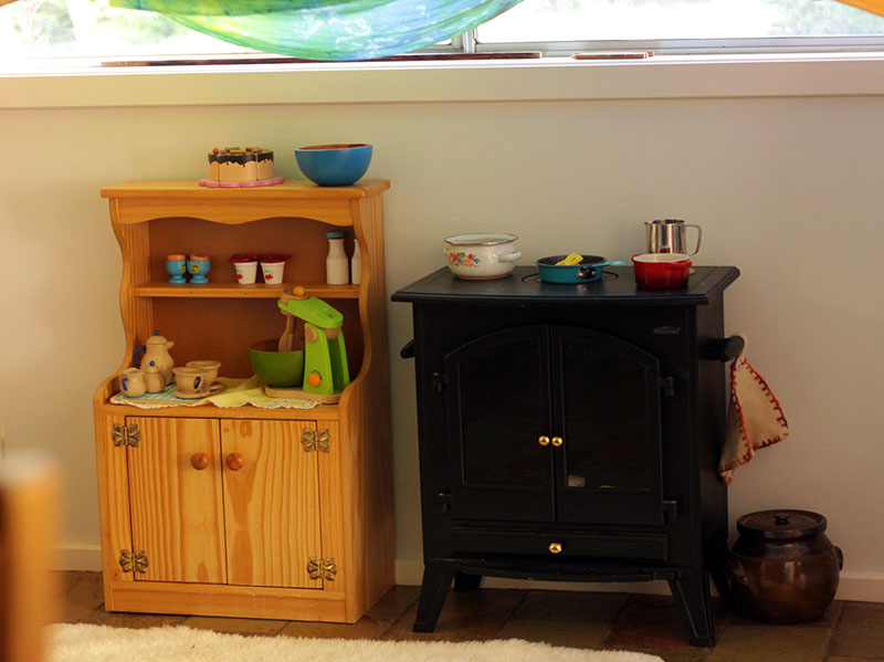 play kitchen reorganised