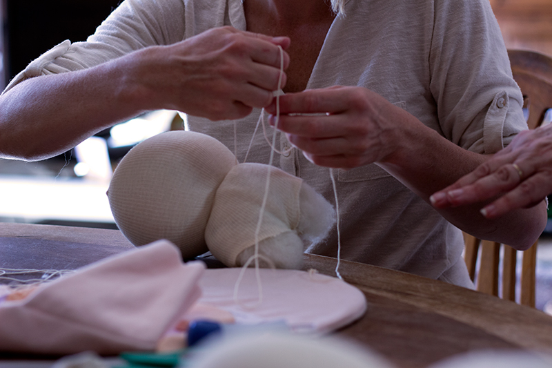 making-the-waldorf-doll-head